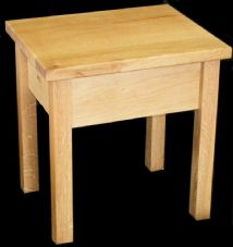 Handmade Solid Oak Side Table/End Table/Small Coffee Table
